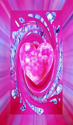 Digital Art - True Love Pink by rd Erickson