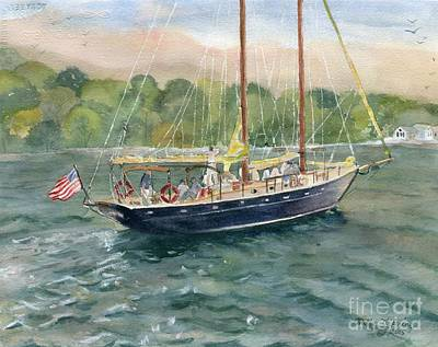 Painting - True Love Schooner by Melly Terpening