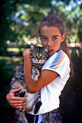 Domestic Short Hair Cat Photograph - True Love by Steve Harrington