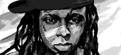 Lil Wayne Celebrity Painting - True Story Rap by Laur Iduc