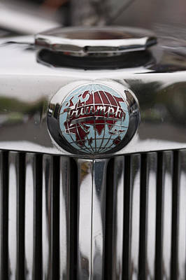 Photograph - Truimph Roadster Emblem Color by Scott Campbell