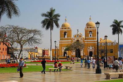 Photograph - Trujillo Peru Plaza by Cascade Colors