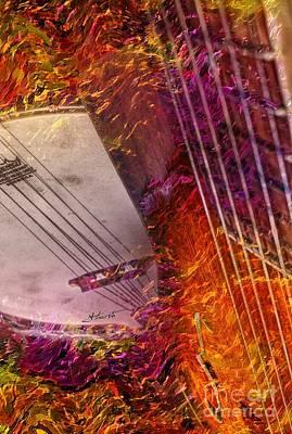 Truly Southern Digital Banjo And Guitar Art By Steven Langston Art Print by Steven Lebron Langston