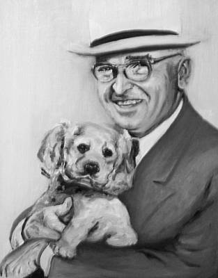 Painting - Truman And Feller by Martha Suhocke