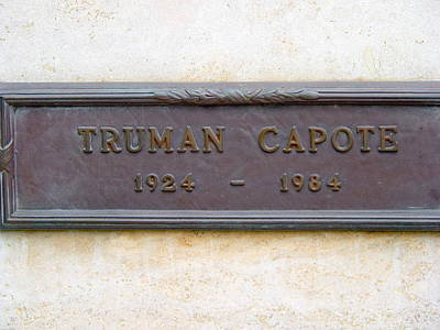 Photograph - Truman Capote Grave by Jeff Lowe