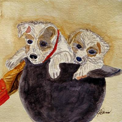 Trump And Tillie Art Print by Angela Davies