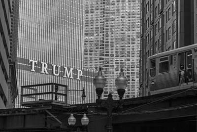 Photograph - Trump Tower And El by John McGraw