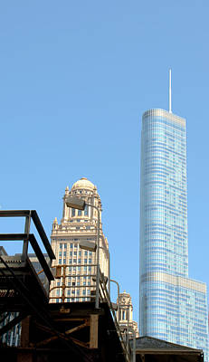 Photograph - Trump Tower And L by Caroline Stella
