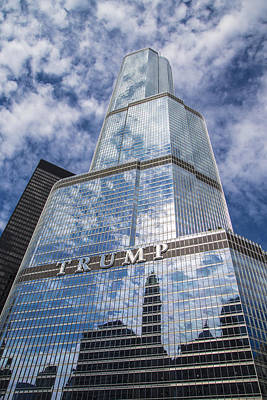Photograph - Trump Tower And Sky  by John McGraw
