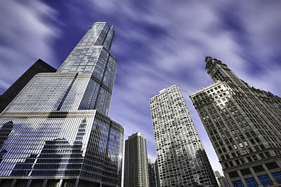 Photograph - Trump Tower And Wrigley Building by Sebastian Musial