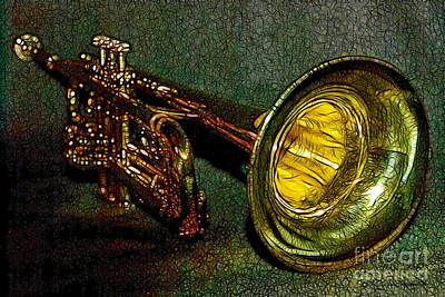 Trumpet Digital Art - Trumpet - 20130111 by Wingsdomain Art and Photography