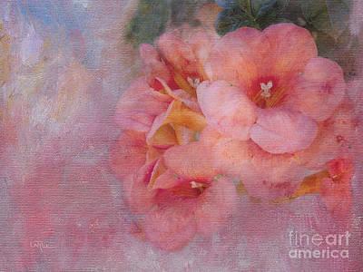 Floral Digital Art Digital Art Digital Art - Trumpet Flowers #6 by Betty LaRue