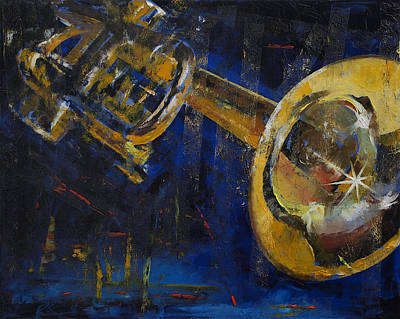 Trumpet Painting - Trumpet by Michael Creese
