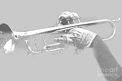 Trumpet Pencil Art Print by Tom Gari Gallery-Three-Photography