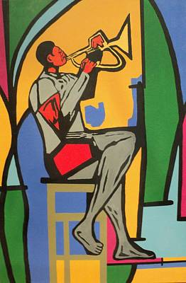 Painting - Trumpet Player IIi by Angelo Thomas