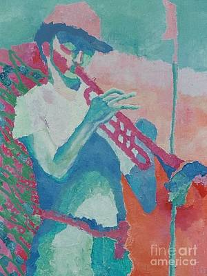 Painting - Trumpet Player by Katie McGuire