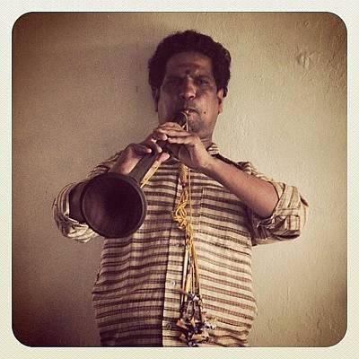 Music Photograph - Trumpeter #india #trumpet #music #hindu by Dani Daniar