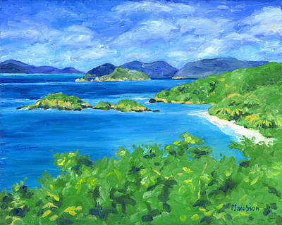 Painting - Trunk Bay by Pauline Walsh Jacobson
