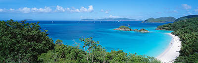 Aquamarine Photograph - Trunk Bay Virgin Islands National Park by Panoramic Images