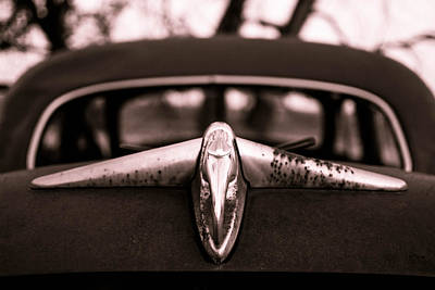 Car Photograph - Trunk Emblem by Nathan Hillis