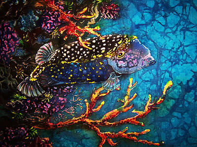 Painting - Trunkfish - Male by Sue Duda
