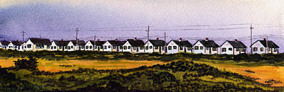 Cape Cod Painting - Truro Cabins by Heidi Gallo