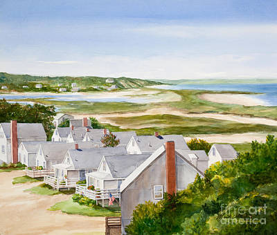Cape Cod Painting - Truro Summer Cottages by Michelle Wiarda