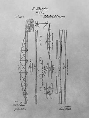 Truss Bridge Patent Drawing Art Print