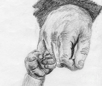 Drawing - Trust by Annemeet Hasidi- van der Leij