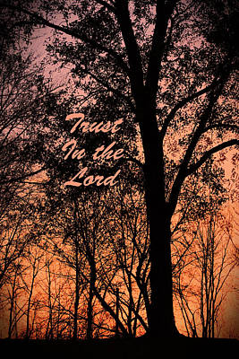Photograph - Trust In The Lord by Lorna Rogers Photography