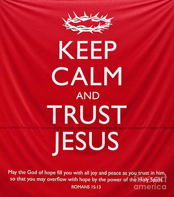 Trust Jesus 01 Art Print by Rick Piper Photography