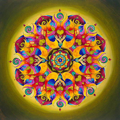 Flame Point Painting - Trust Mandala by Vikki Reed