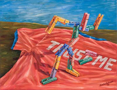 Painting - Trust Me by Sethu Madhavan