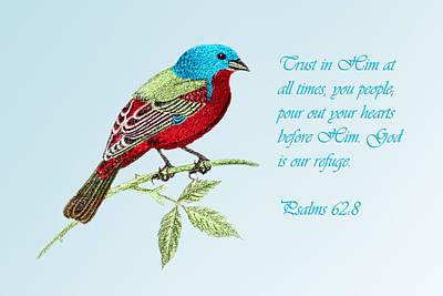 Trust  Psalms 62v8 Art Print by Linda Phelps