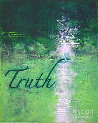 Truth - Emerald Green Abstract By Chakramoon Art Print by Belinda Capol