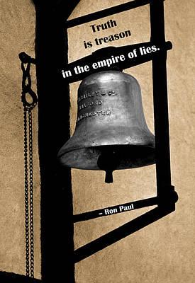 Truth Is Treason Print by Mike Flynn