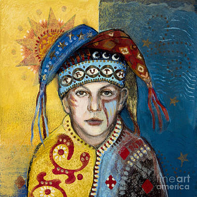 Duality Painting - Truth Jester by Diane Soule