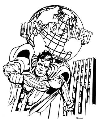 Truth - Justice And The American Way Original by Peter Melonas
