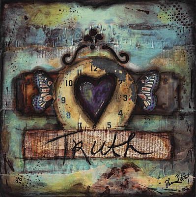 Brave Mixed Media - Truth by Shawn Petite