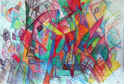 Creativity Drawing - Try To See Me At Face Value 1 by David Baruch Wolk