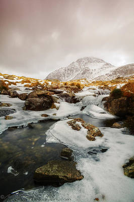 Photograph - Tryfan And Icy Afon Idwal by Beverly Cash