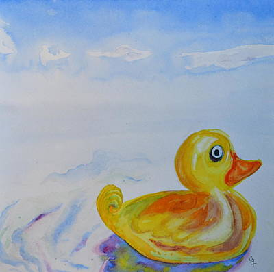 Trying Out The Big Water Art Print by Beverley Harper Tinsley