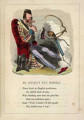 Trying To Kill Himself Print by British Library