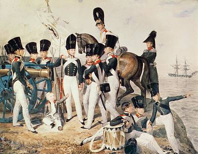 Tsarevich Alexander 1818-81 With His Cadets At Peterhof, C.1823 Wc On Paper Art Print by Aleksandr Pavlovich Bryullov
