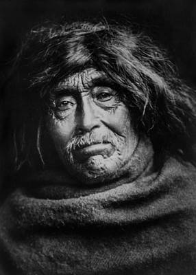 1914 Photograph - Tsawatenok Indian Man Circa 1914 by Aged Pixel
