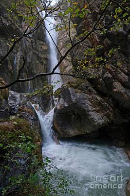 Photograph - Tschaukofall Waterfall - Austria by Phil Banks
