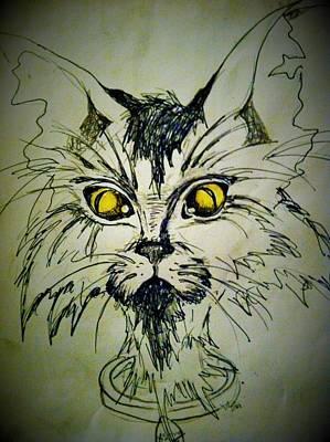 Tsimos Cat Art Print