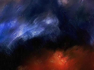 Contemporary Abstract Digital Art - Tsunami Abstract by Georgiana Romanovna