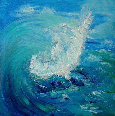 Painting - Tsunami by Donna Blackhall