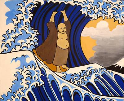 Tsunami Surfing Buddha Original